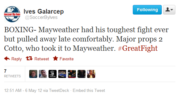 Twittersoccerbyivesboxingmayweatherhadhis