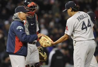 Bobby Valentine has had to make the trip to the mound frequently this season