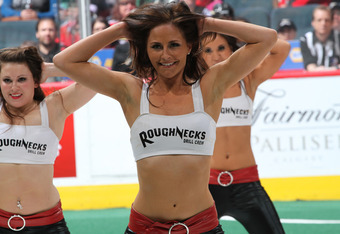 Easily the best Calgary team on the weekend was the Drill Crew, who did a great job as always. (Photo: calgaryroughnecks.com)