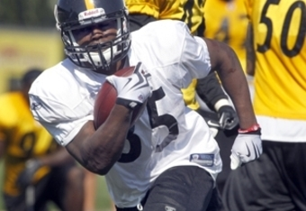 RB Baron Batch was impressive at camp but tore his ACL; he'll have a good chance to make the 53-man roster this year (Photo courtesy: Nice Pick Cowher)