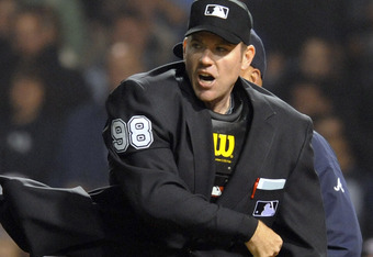 Freddie Gonzalez gets tossed.
