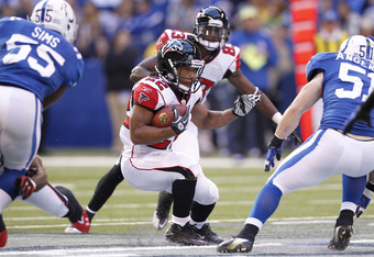 Jacquizz Rodgers' role with Atlanta will increase in 2012.