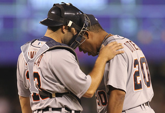 "Alex Avila to Dotel: ""It's okay, buddy. This is a tough lineup you're facing."""