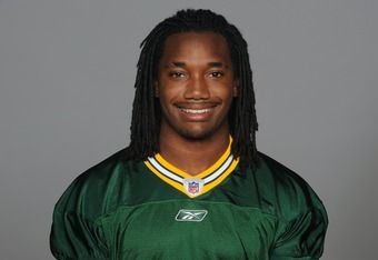 GREEN BAY, WI - CIRCA 2011: In this handout image provided by the NFL, Davon House of the Green Bay Packers poses for his NFL headshot circa 2011 in Green Bay, Wisconsin.  (Photo by NFL via Getty Images)