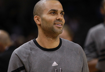SAN ANTONIO, TX - MAY 02:  Tony Parker #9 of the San Antonio Spurs in Game Two of the Western Conference Quarterfinals of the 2012 NBA Playoffs at AT&T Center on May 2, 2012 in San Antonio, Texas.  NOTE TO USER: User expressly acknowledges and agrees that