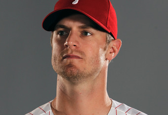 Kyle Kendrick goes to the happy place in his mind to forget how badly he's pitched recently.