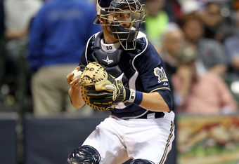 Lucroy behind the plate