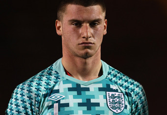 LONDON, ENGLAND - FEBRUARY 28:  Sam Johnstone of England looks on during the Under-19 European Championship Qualifier match between England and Czech Republic at Matchroom Stadium on February 28, 2012 in London, England.  (Photo by Julian Finney/Getty Ima
