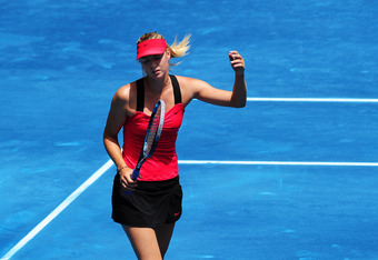Sharapova doesn't always move forward enough