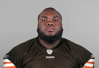 BEREA, OH - CIRCA 2011: In this handout image provided by the NFL, Phil Taylor of the Cleveland Browns poses for his NFL headshot circa 2011 in Berea, Ohio.  (Photo by NFL via Getty Images)