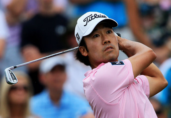 PONTE VEDRA BEACH, FL - MAY 13:  Kevin Na of the United States hits his tee shot on the third hole during the final round of THE PLAYERS Championship held at THE PLAYERS Stadium course at TPC Sawgrass on May 13, 2012 in Ponte Vedra Beach, Florida.  (Photo