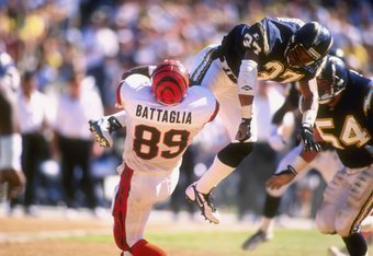 Battaglia, who went on to an NFL career, was Rutgers' leading receiver in the game.