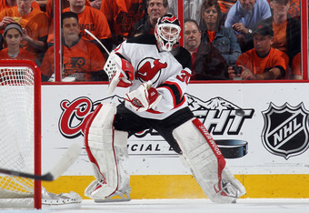 New Jersey Devils netminder Martin Brodeur is still going strong at age 40.