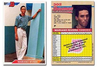 Mariano Rivera's 1992 Bowman Rookie Card