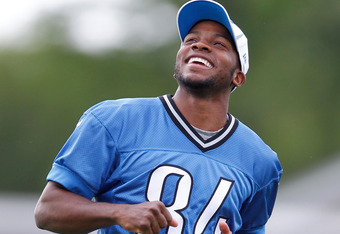 ALLEN PARK, MI - MAY 12:  Ryan Broyles #84 of the Detroit Lions looks on during a rookie mini camp at the Detroit Lions Headquarters and Training Facility on May 12, 2012 in Allen Park, Michigan. (Photo by Gregory Shamus/Getty Images)