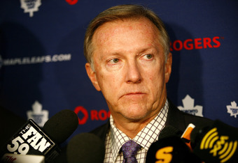 OTTAWA, ON - NOVEMBER 17:  Ron Wilson of the Toronto Maple Leafs speaks with the media after a loss to the Ottawa Senators in a game at Scotiabank Place on November 17, 2009 in Ottawa, Canada. (Photo by Phillip MacCallum/Getty Images)
