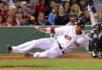 BOSTON, MA - MAY 14:  Will Middlebrooks #64 of the Boston Red Sox scores a run against the Seattle Mariners at Fenway Park May 14, 2012  in Boston, Massachusetts. (Photo by Jim Rogash/Getty Images)