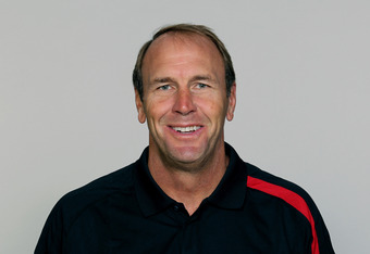 FLOWERY BRANCH, GA - CIRCA 2011: In this handout image provided by the NFL,   Mike Mularkey of the Atlanta Falcons poses for his NFL headshot circa 2011 in Flowery Branch, Georgia. (Photo by NFL via Getty Images)
