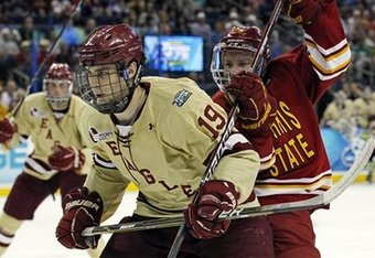 Kreider played his final college game on April 7 as BC won their fifth national title with a 4-1 win over Ferris State.