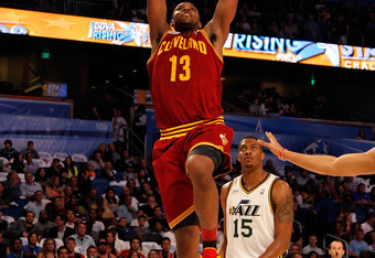 ORLANDO, FL - FEBRUARY 24:  Tristan Thompson #13 of the Cleveland Cavaliers and Team Shaq dunks during the BBVA Rising Stars Challenge part of the 2012 NBA All-Star Weekend at Amway Center on February 24, 2012 in Orlando, Florida.  NOTE TO USER: User expr