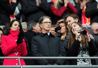 LONDON, ENGLAND - MAY 05:  Liverpool owner, John W Henry looks on during the FA Cup with Budweiser Final match between Liverpool and Chelsea at Wembley Stadium on May 5, 2012 in London, England.  (Photo by Shaun Botterill/Getty Images)