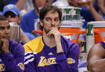 Now What? Pau Gasol had 14 points, 11 rebounds and nothing to show for it in second game loss.