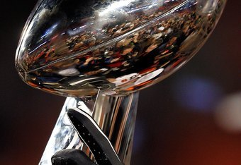 MIAMI GARDENS, FL - FEBRUARY 07:  A detail of the Vince Lombardi Trophy as the New Orleans Saints celebrate after defeating the Indianapolis Colts during Super Bowl XLIV on February 7, 2010 at Sun Life Stadium in Miami Gardens, Florida.  (Photo by Jonatha