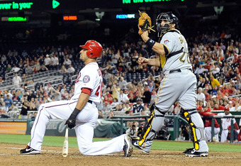 The Nationals' Ian Desmond was brought to his knees by Pirates pitchers on Thursday.