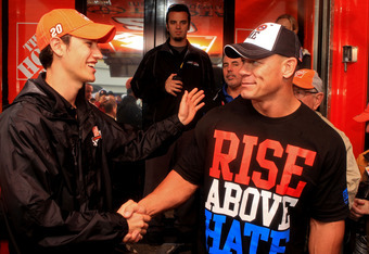 You can be sure that John Cena won't be shaking hands with John Laurinaitis before their match at Over the Limit.