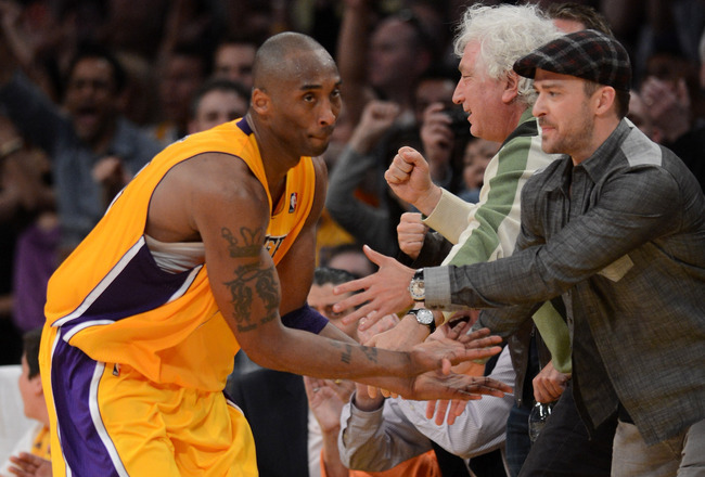 > Kobe Bryant and Justin Timberlake Secret Playoff Handshake 2012 (pic) - Photo posted in BX SportsCenter | Sign in and leave a comment below!