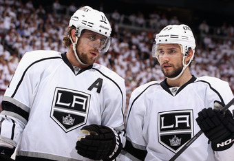 Anze Kopitar (left) has been the center of the Kings offense.