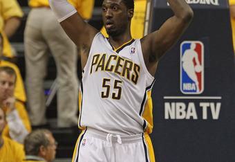 Roy Hibbert snagged 18 boards in the Pacers win last night.