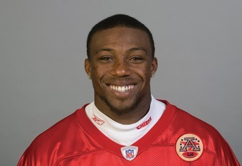 KANSAS CITY, MO - CIRCA 2011: In this handout image provided by the NFL, Eric Berry of the Kansas City Chiefs poses for his NFL headshot circa 2011 in Kansas City, Missouri. (Photo by NFL via Getty Images)