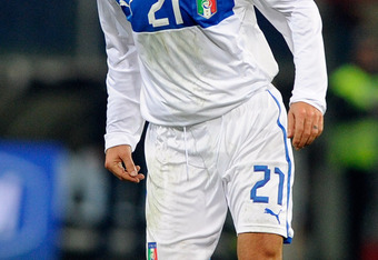 Pirlo looks for his next pinpoint pass in the February 29 friendly against the United States.