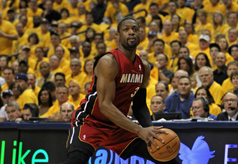 INDIANAPOLIS, IN - MAY 17: Dwyane Wade #3 of the Miami Heat moves against the Indiana Pacers in Game Three of the Eastern Conference Semifinals in the 2012 NBA Playoffs at Bankers Life Fieldhouse on May 17, 2012 in Indianapolis, Indiana. The Pacers defeat