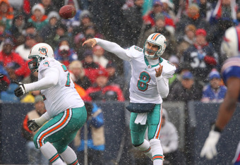 Can Matt Moore weather the storm and deliver for the Dolphins without the aid of Brandon Marshall?