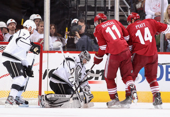 The Coyotes need more scoring from Martin Hanzal (11), who has 5 points in 11 playoff games this spring.