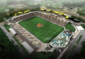 New venues, like this stadium build for the WPS Atlanta Beat, that balance scale and amenities with a major league look and feel will be necessary.