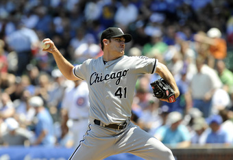 CHICAGO, IL - MAY 18: Philip Humber #41 of the Chicago White Sox pitches against the Chicago Cubs in the first inning  on May 18 2012 at Wrigley Field in Chicago, Illinois.  (Photo by David Banks/Getty Images)