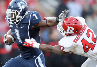 Rutgers returns nine starters on defense, including outside linebacker Steve Beauharnais.