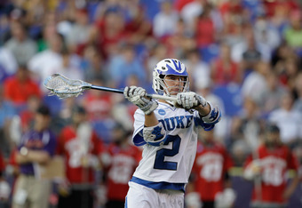 BALTIMORE, MD - MAY 28: David Lawson #2 of the  Duke Blue Devils in action against the Maryland Terrapins during the first  half in the Division 1 Men's Lacrosse Championship Semifinals at M&T Bank Stadium on May 28, 2011 in Baltimore, Maryland.  (Photo b