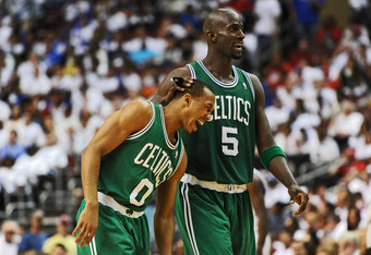 Garnett's return will allow him to continue to teach young players like Avery Bradley winning ways.