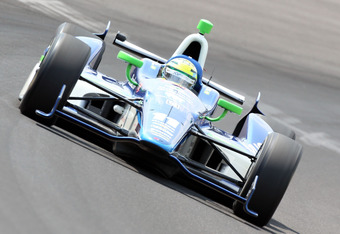 INDIANAPOLIS, IN - MAY 20:  Tony Kanaan drives the #11 GEICO/Mouser Electronics KVRT car during practice for the Indinapolis 500 at Indianapolis Motor Speedway on May 20, 2012 in Indianapolis, Indiana.  (Photo by Andy Lyons/Getty Images)