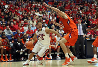 Nick Johnson is another option at point guard for Arizona.
