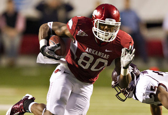 Arkansas tight end Chris Gragg