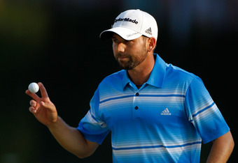 AUGUSTA, GA - APRIL 07:  Sergio Garcia of Spain gestures after putting on the third round of the 2012 Masters Tournament at Augusta National Golf Club on April 7, 2012 in Augusta, Georgia.  (Photo by Streeter Lecka/Getty Images)