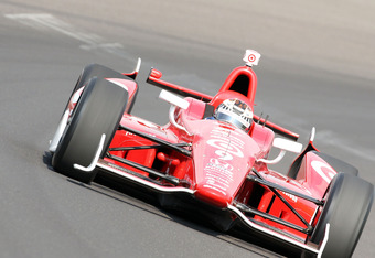 INDIANAPOLIS, IN - MAY 20:  Scott Dixon drives the #9 Target Chip Ganassi Racing car during practice for the Indinapolis 500 at Indianapolis Motor Speedway on May 20, 2012 in Indianapolis, Indiana.  (Photo by Andy Lyons/Getty Images)