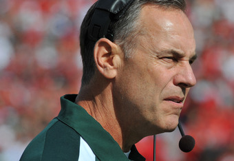 Michigan State Spartans head football coach Mark Dantonio