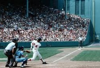 A classic swing at Fenway, 1982.