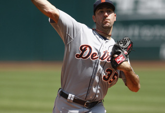 CLEVELAND, OH - MAY 24:  Justin Verlander #35 of the Detroit Tigers pitches during the game against the Cleveland Indians at Progressive Field on May 24, 2012 in Cleveland, Ohio.  (Photo by John Grieshop/Getty Images)